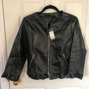 New look leather look jacket brand new size US 10